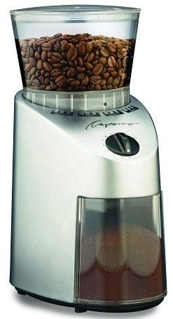 Capresso 560.04 Infinity Conical Burr Grinder, Stainless Finish $61.49