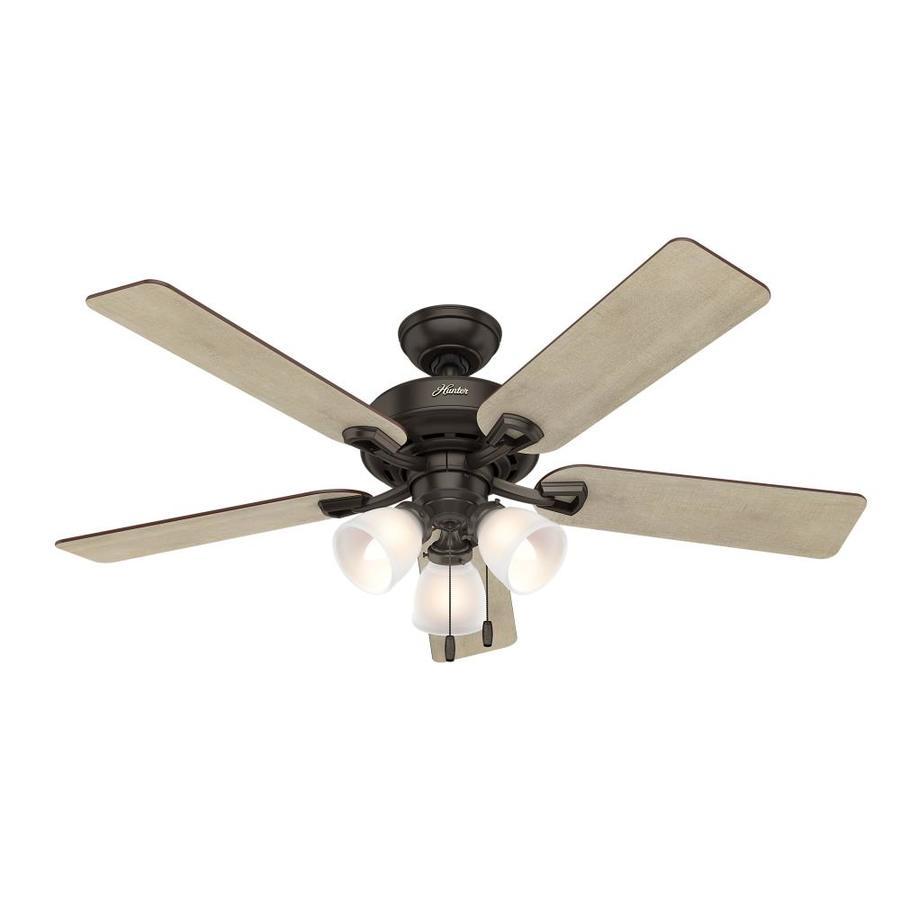 Hunter Kenney LED 52-in Premier Bronze Indoor Ceiling Fan