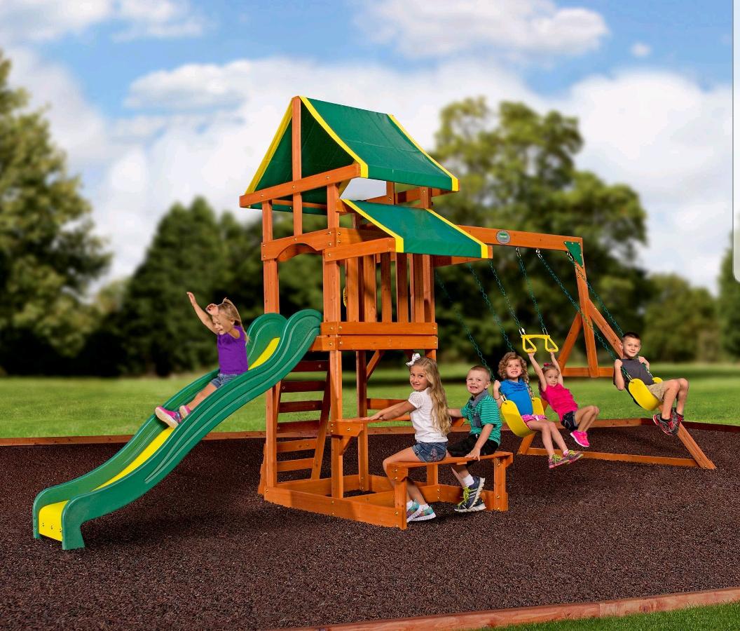 Backyard Discovery Tucson Cedar Wooden Swing Set @ Walmart $349 33% OFF