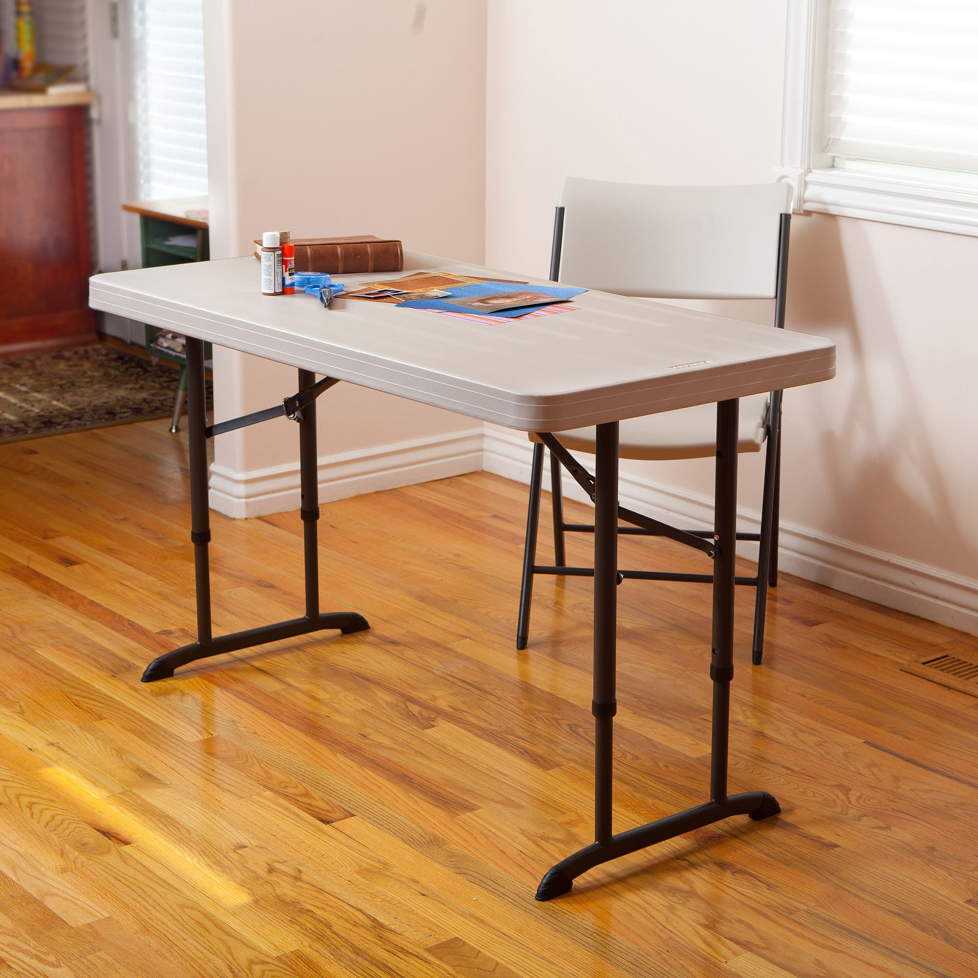 Lifetime 4' Adjustable Table, Almond - $29.60 with Walmart Pickup Discount