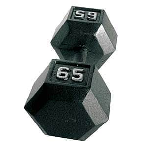 CAP Barbell Solid Hex Dumbbell, Single [65-Pound] $44.85