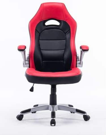 Executive Swivel Gaming Racing Leather High-Back Computer PC Office Chair Manager Chair Red with Black, Thick Padded Flip Up Armrest $69.99 + Free Shipping