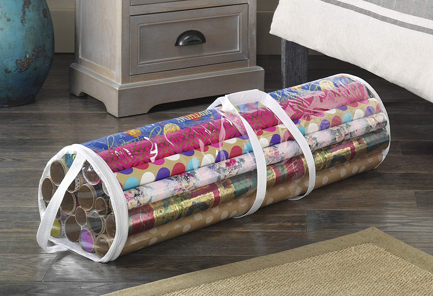 Whitmor Clear Gift Wrap Organizer - Zippered Storage for 25 Rolls - FS/Prime @ Amazon $4.35 & Whitmor Clear Gift Wrap Organizer - Zippered Storage for 25 Rolls ...