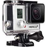 GoPro Hero3+ Silver Edition with Li-ion Battery and Dual Battery Charger - $250