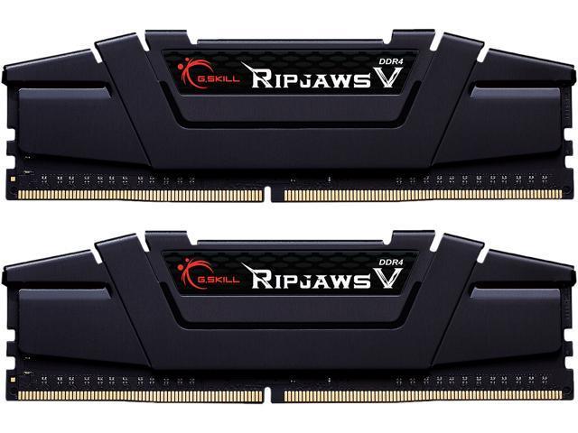 G.Skill Ripjaws 32GB 2 x 16GB DDR4-3600 PC4-28800 CL16 Dual Channel Desktop Memory Kit F4-3600C16D-32GVKC - Black $139.99