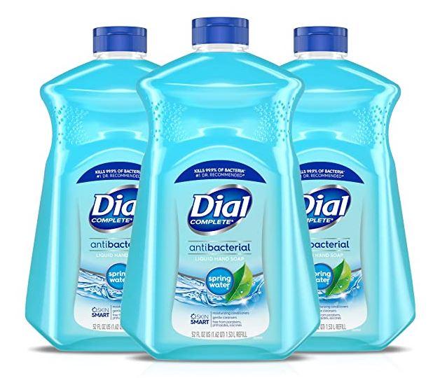 Dial Antibacterial Liquid Hand Soap Refill, Spring Water, 52 Fluid oz (Pack of 3) $11.97