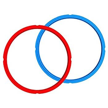 Genuine Instant Pot Silicon Sealing Ring 2-Pack - 6 Quart Red/Blue $8.96