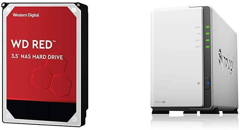 Synology DiskStation DS218j 2-Bay NAS Enclosure + 2-Ct 4TB WD Red HDD $316 + Free Shipping