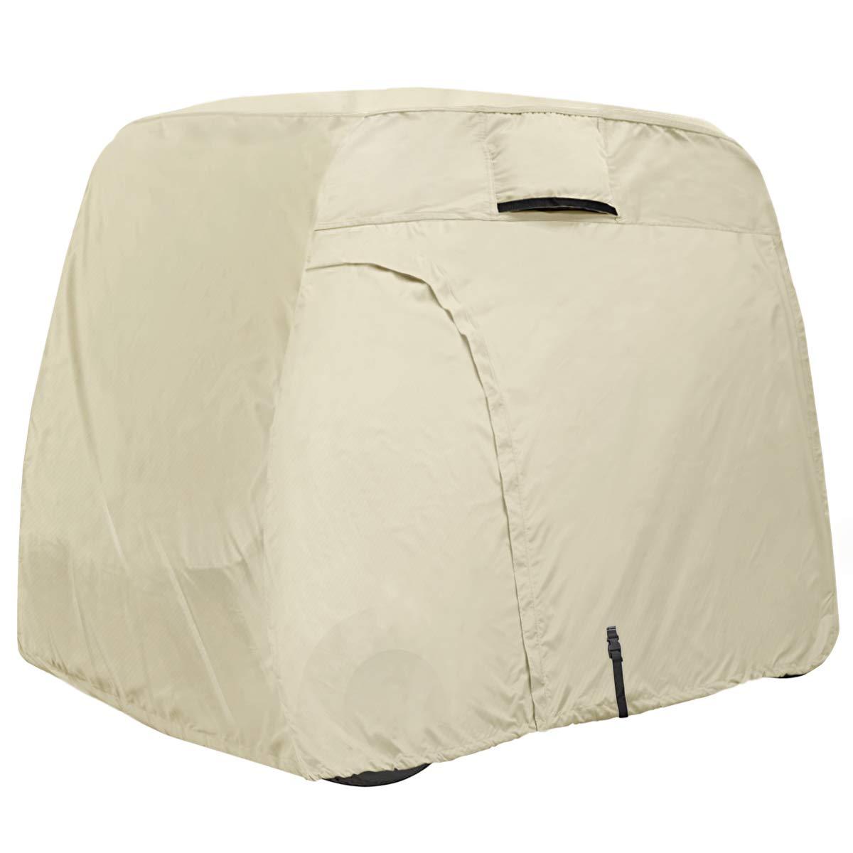 Explore Land 600D Waterproof Golf Cart Cover for 2/4 Passenger Most Brand Golf Cart $38.49
