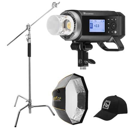 Flashpoint (Godox) AD400 Pro Kit w/C-Stand, Softbox, and Hat