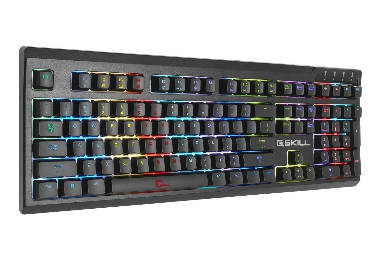 G. Skill RIPJAWS KM570 RGB Minimalistic Fully Utilized Mechanical Gaming Keyboard, Cherry MX Speed Silver - $47.99 amazon.com