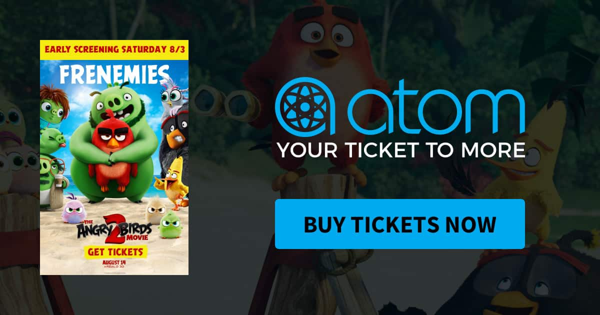 Free ticket(s) to Angry Birds Movie 2 Target early bird showing TODAY 8/3