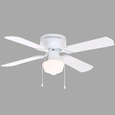 Hampton Bay Littleton 42 in. White Ceiling Fan with Light Kit $20 AC In-store Pickup or FS w/$45+ purchase