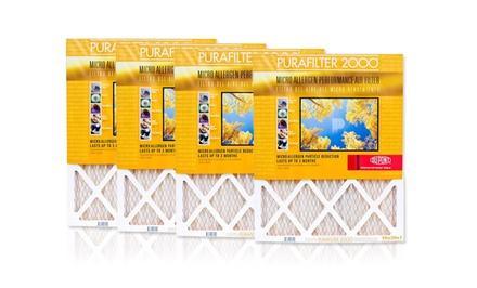 LivingSocial: 4-pk Purafilter Gold HVAC Air Filters (MERV 11) - $18.40 FS w/$35 purchase