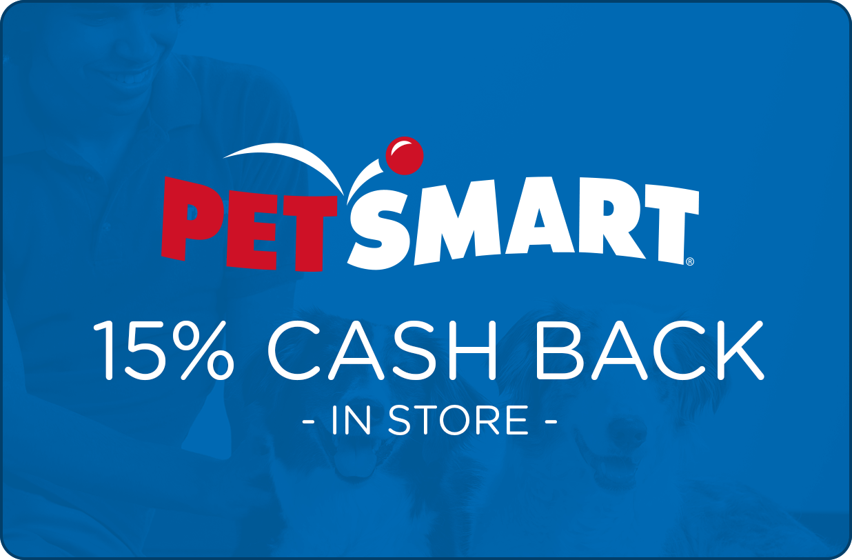 PetSmart: 15% cash back on in-store purchases with Ibotta