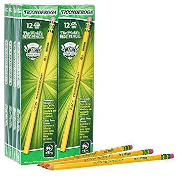 Ticonderoga Pencils, #2 HB Soft, Yellow, 96-Pack - $10