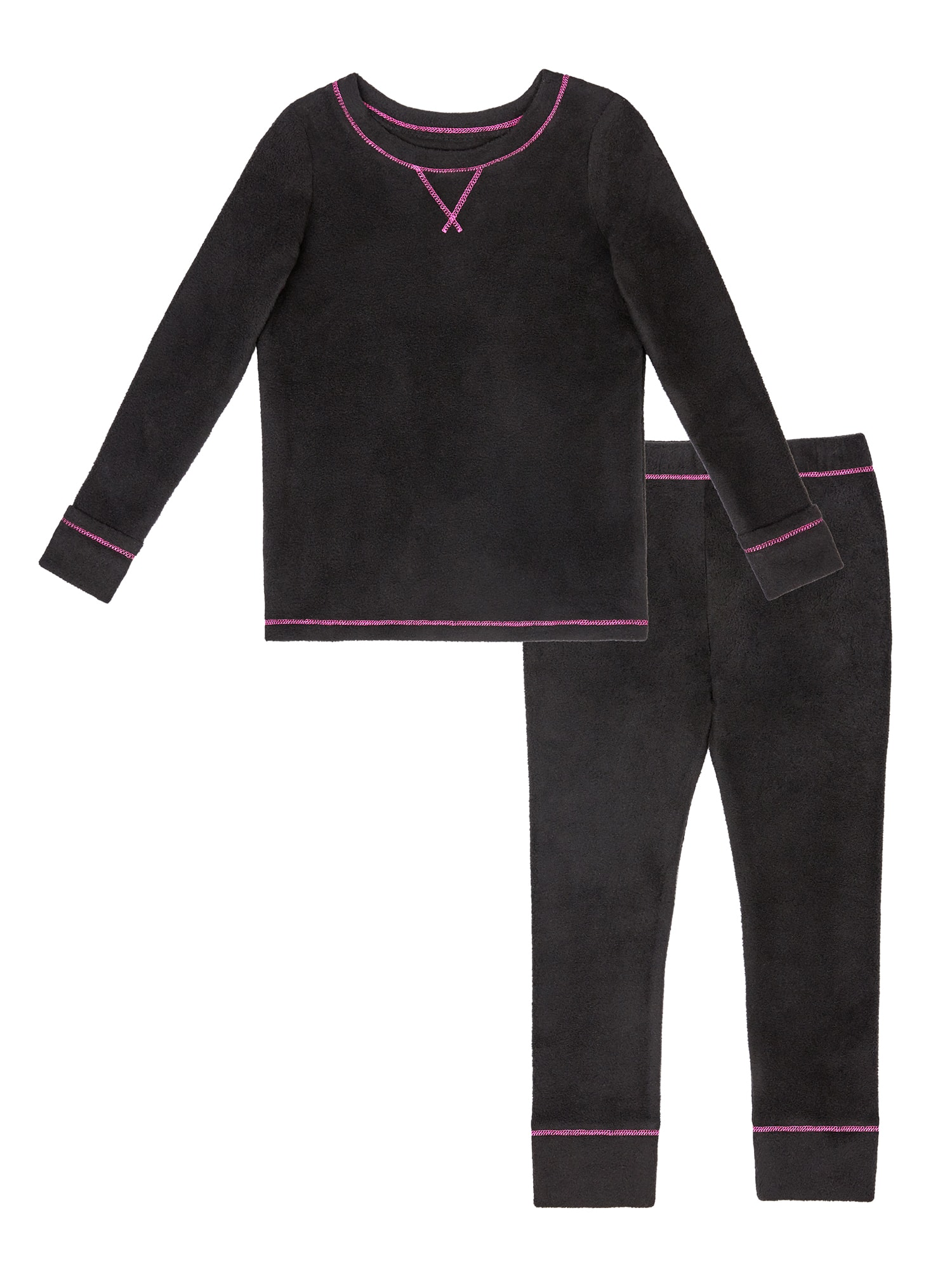 ClimateRight by Cuddl Duds Toddler Girl Stretch Fleece Long Underwear, 2pc Set - $5.50