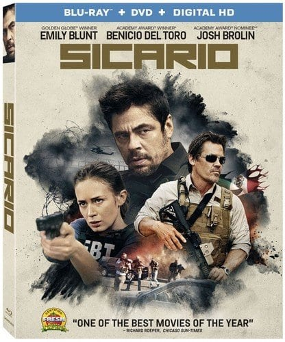 Sicario Blu Ray + DVD + Digital HD $5