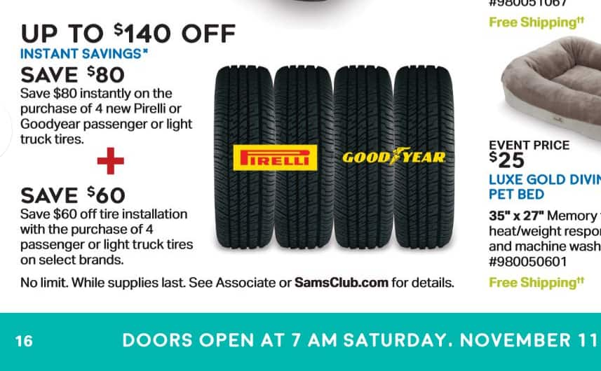 Upto 80 Off Tires At Sam S Club Slickdeals Net
