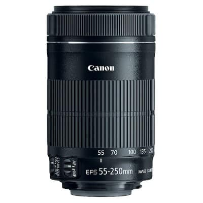 Canon F-S 55-250mm f/4-5.6 IS STM Telephoto Zoom Lens $150