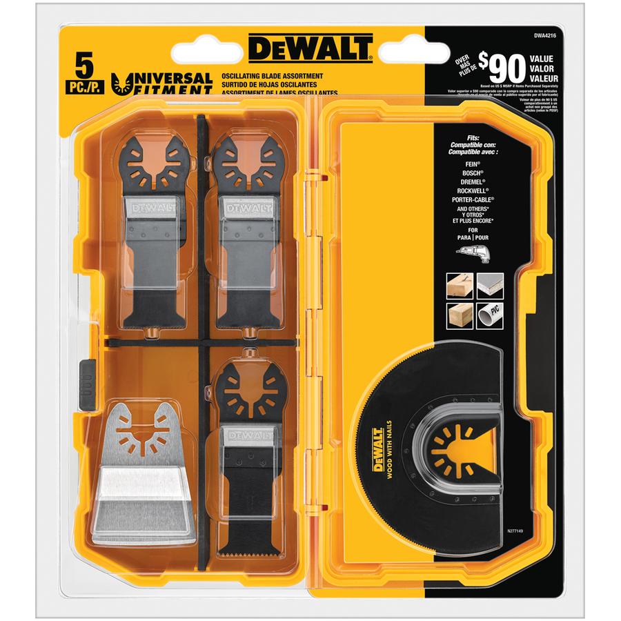 DEWALT DWA4216 Oscillating Tool Blade Set $24 98 at Lowe's