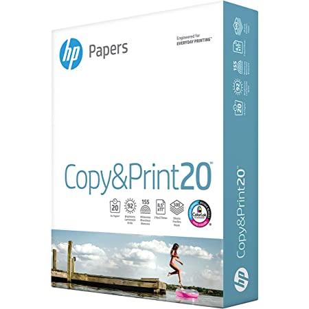 HP Printer Paper 8.5 x 11   20 lb - 1 ream - 500 Sheets   92 Bright - $3.99