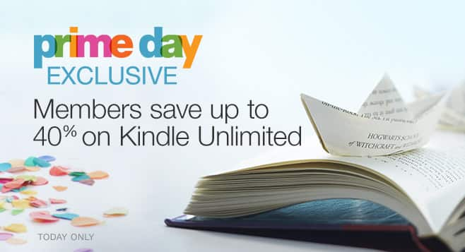 Kindle Unlimited Subscription - 25% to 40% Off (Amazon Prime Day)