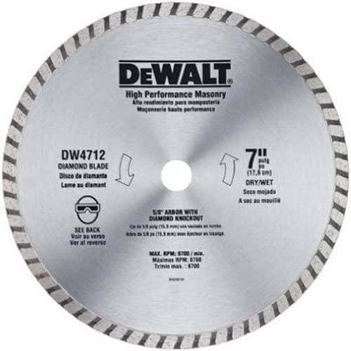DEWALT 7-inch Diamond Blade $8.99 at Amazon