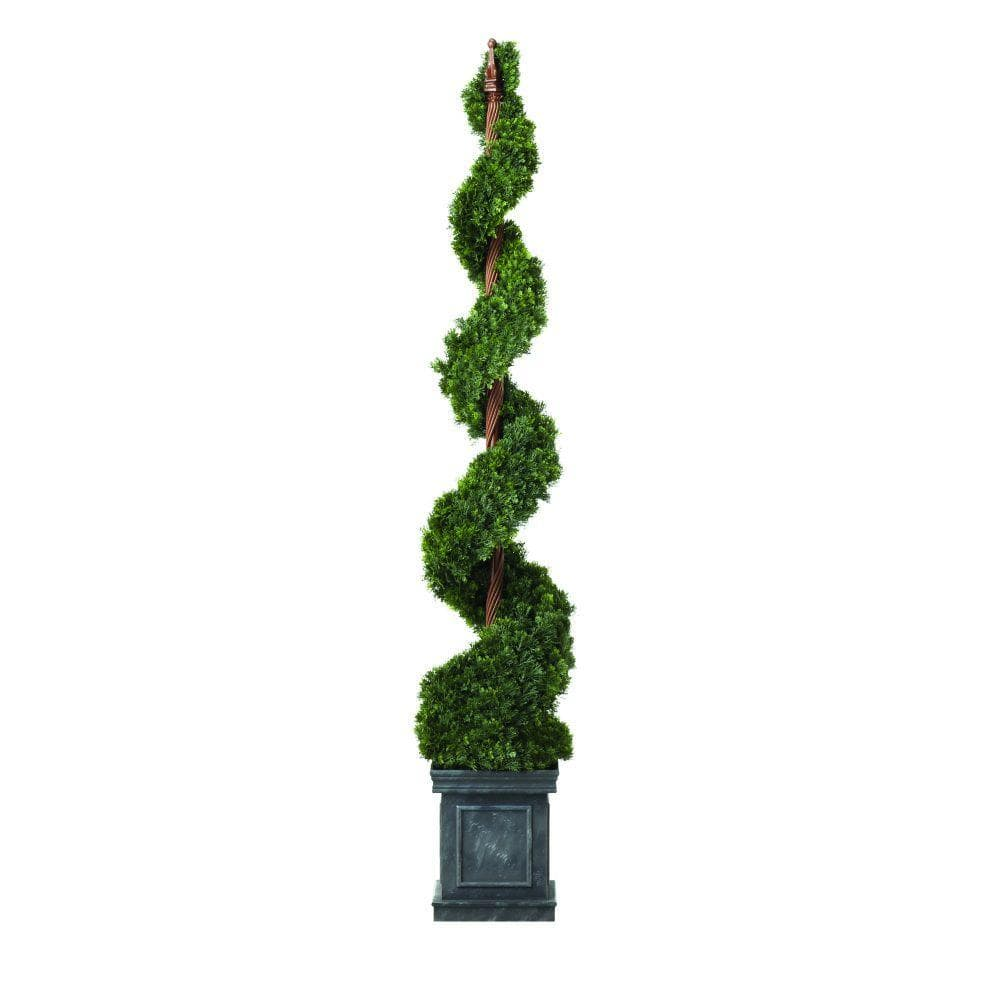 martha stewart living 5 ft juniper slim spiral artificial tree 75 off home - Martha Stewart 75 Foot Christmas Trees