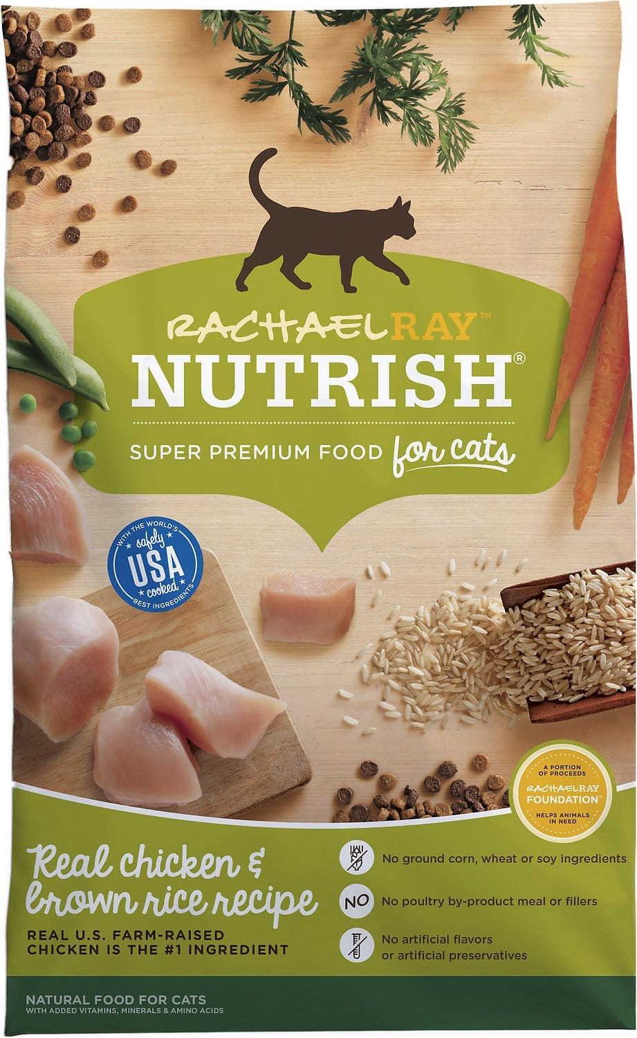 Rachael Ray Nutrish Natural Chicken & Brown Rice Recipe Dry Cat Food 14 Lbs $11.52 each or less + FS over $50!