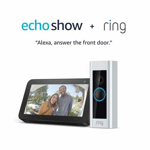 Ring Video Doorbell Pro with Echo Show 5 (Charcoal) $179