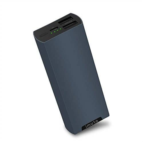 imuto 5000mAh Portable Charger with dual 2.1A USB ports and Aluminum Unibody $6.75