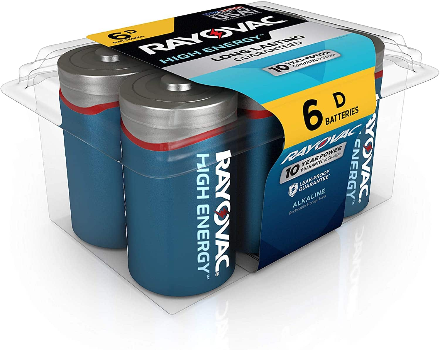 Rayovac D Batteries (6 Battery Count) $4 + FS with S&S
