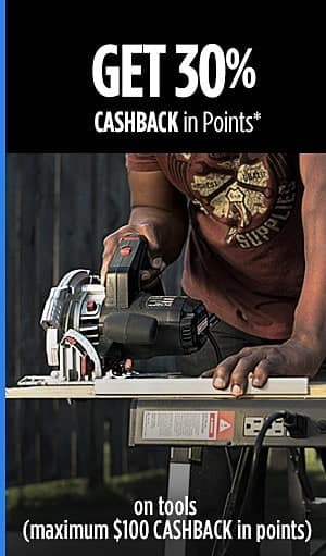 @Sears Shop Your Way Members Receive 30% Back in Points on Select Tool Purchases - Online Only