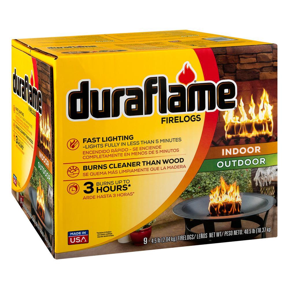 9-Pack 4.5lb Duraflame Indoor/Outdoor Firelogs - Bay Area YMMV - Home Depot - Reg. $29.97 NOW $7.97
