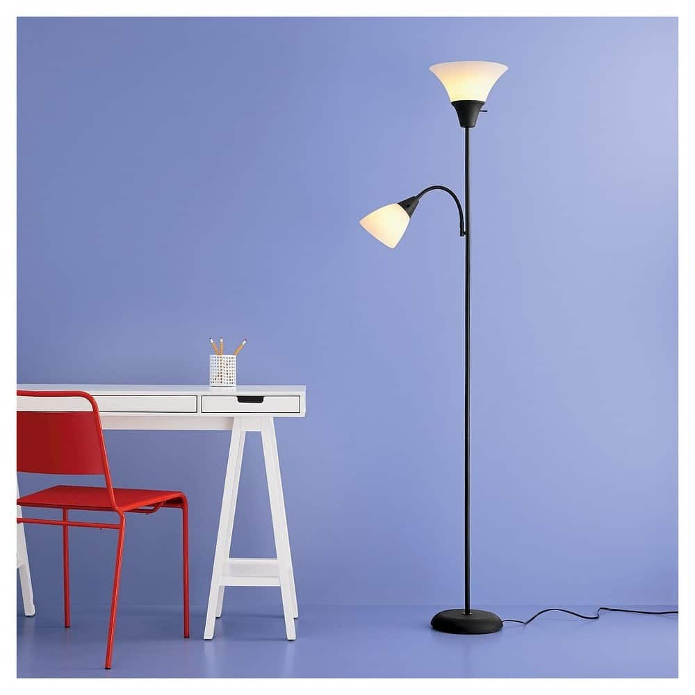 room essentials torchiere floor lamp w/ task light - slickdeals