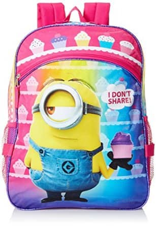 Despicable Me Girls' Purple 16 Inch Backpack with Detachable Lunch Bag $7.14 FSSS