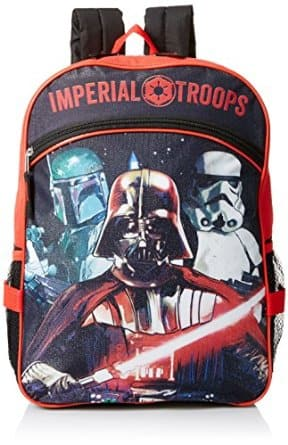 Star Wars Boys' Disney Red 16 Inch Backpack with Lunch Bag $7.94 + FSSS