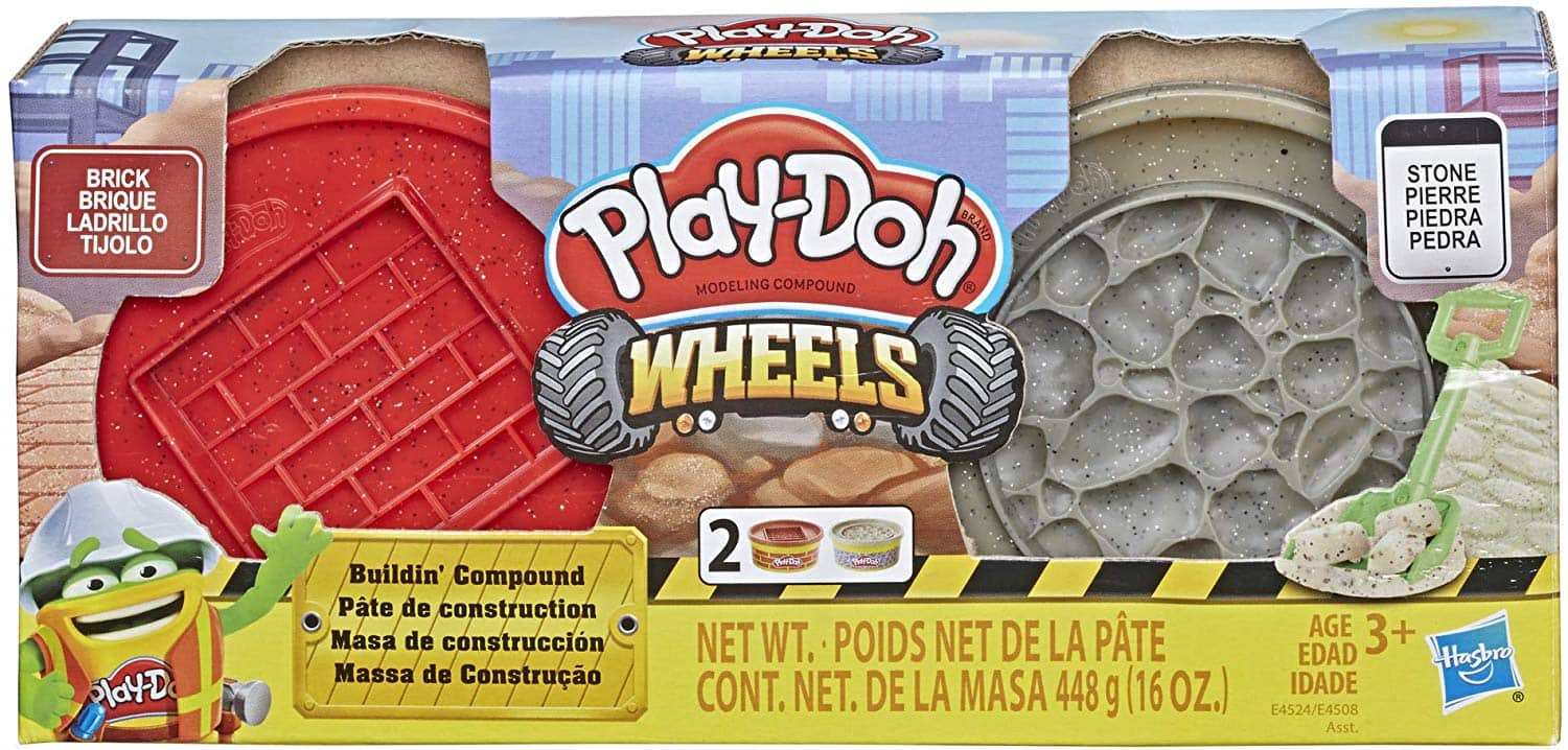 Play-Doh Wheels Brick and Stone Buildin' Compound 2-Pack of 8-Ounce Cans $2.99 FSSS