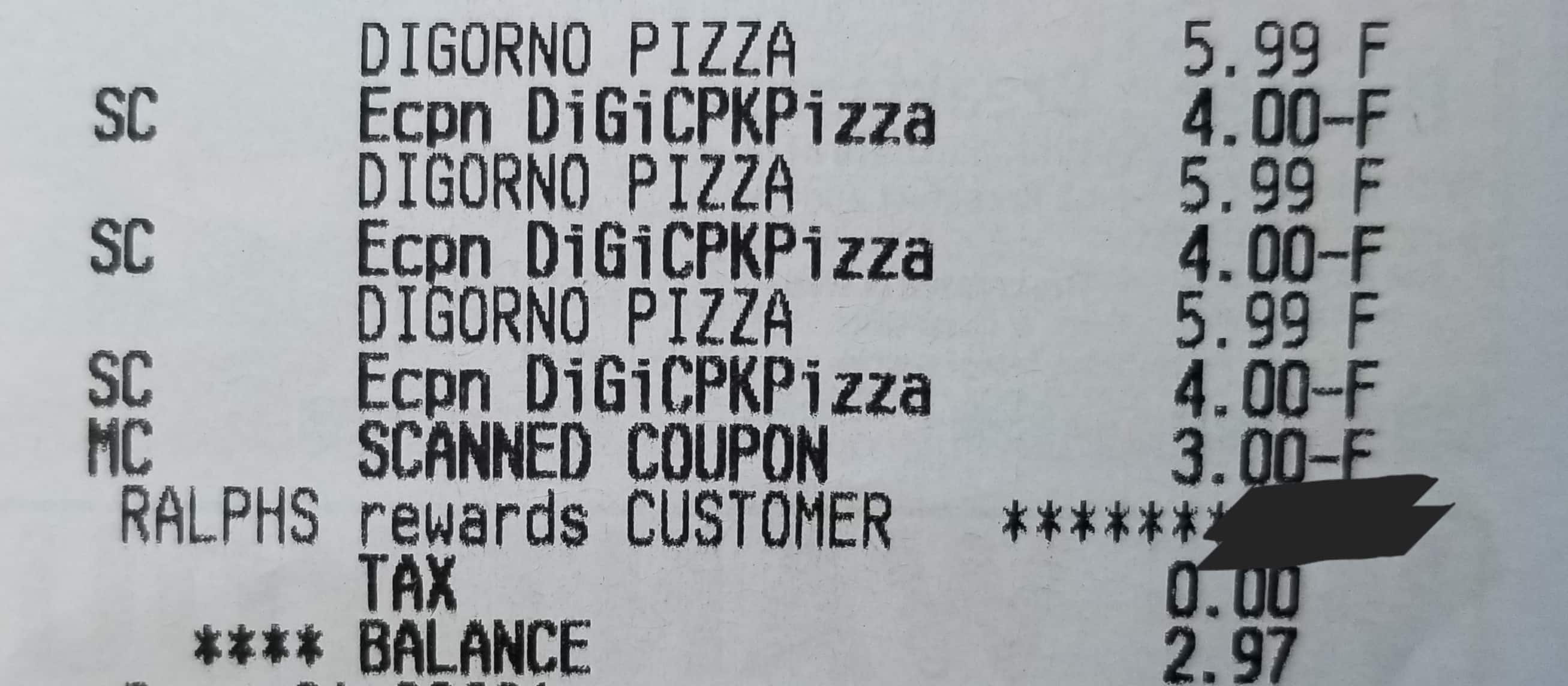photograph about Ralphs Printable Coupons referred to as Digiorno pizza $1.99 each individual at Ralphs Grocery shops (BM