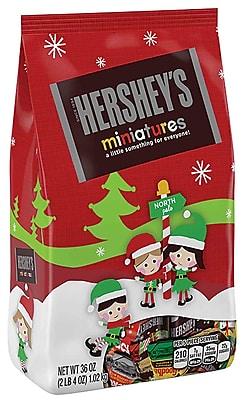 Staples- 36 oz bag hershey's holiday miniatures $4.99
