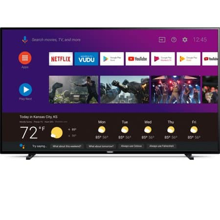 """Philips 65"""" Class 4K Ultra HD (2160p) Android Smart LED TV with Google Assistant (65PFL5604/F7) -$488"""