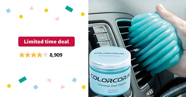 Limited-time deal: ColorCoral Cleaning Gel Universal Gel Cleaner for Car Vent Keyboard Auto Cleaning Putty Dashboard Dust Remover Putty Auto Duster Cleaning Kit 160G - $5.75
