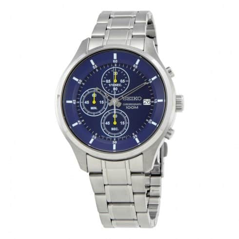 SEIKO Chronograph Blue Dial Men's Watch $79.99 shipped