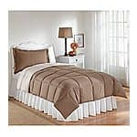 LivingQuarters Reversible Microfiber Down-Alternative Comforter, all sizes -- $22.49