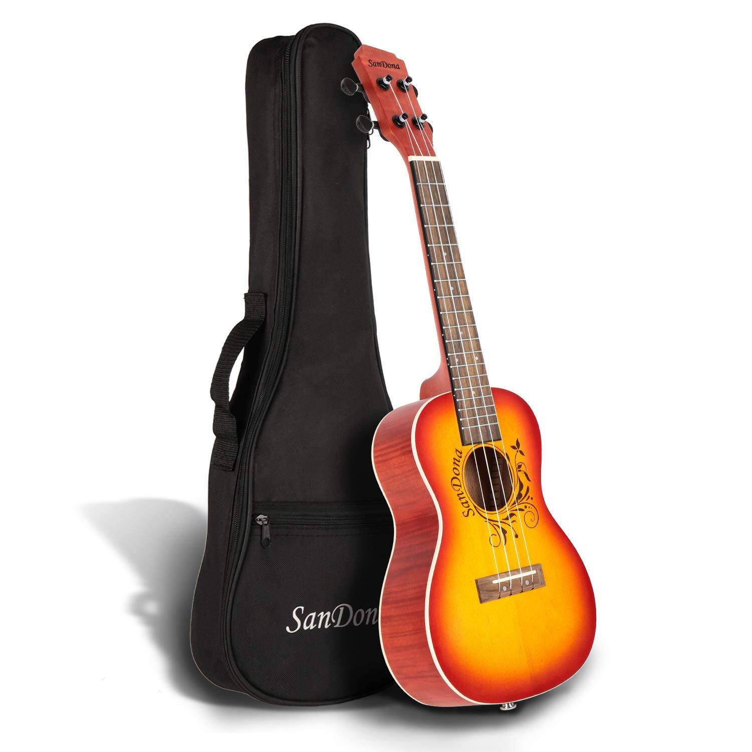 SANDONA Acoustic Electric Concert Ukulele 24 Inch (4 colors) $43.67 + FREE Prime Shipping