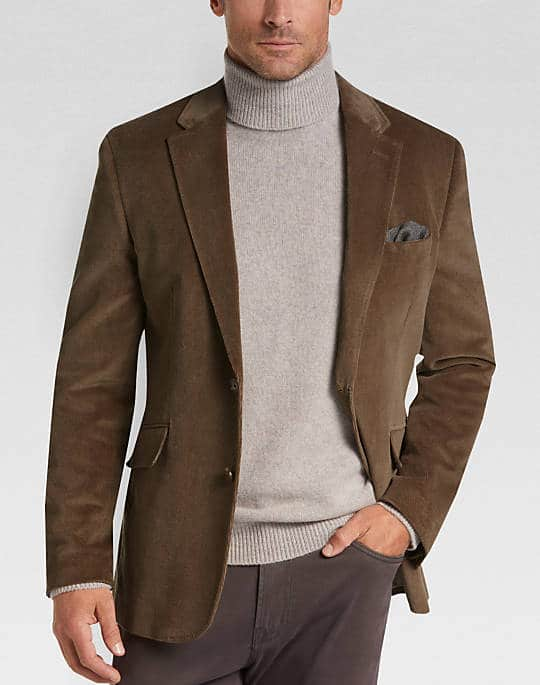 78% off on Joseph Abboud Men's Velour Casual Coat $45
