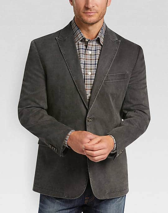 70% off on Joseph Abboud Charcoal Twill Casual Coat $60