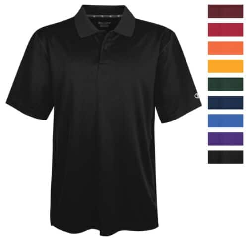 Champion Men's Ultimate Double Dry Solid Polo Shirt $9