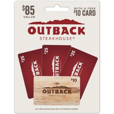 Sam's Club: Outback Steakhouse - 3 x $25 Gift Cards with a Bonus $10 Card - $70